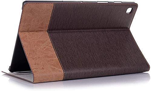 Jennyfly Schutzhülle für Galaxy Tab A 2020, 21,3 cm (8,4 Zoll) Tab A 2020, leicht, Premium-PU-Leder, Standfunktion, Bildschirmschutzfolie mit Kartenschlitzen, Dunkelbraun