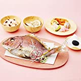 花むすび・えん お食い初めセット もえみずき 鯛 (国産天然真鯛) 料理 赤飯 蛤のお吸い物 歯固めの石付 冷凍 (プティ(1人分))