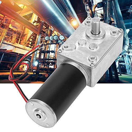 PYROJEWEL Motor de reducción de velocidades, alta velocidad de torsión reduce el motor eléctrico de la caja de cambios reversible reductor de motor de metal con eje de 8 mm, 24 V (12 RPM)