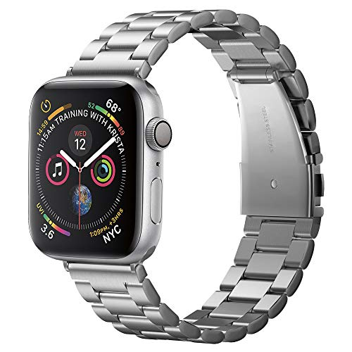Spigen Modern Fit compatibile con Apple Watch Band per 42 mm/44 mm Serie 5/Serie 4/Serie 3/2/1 – Argento