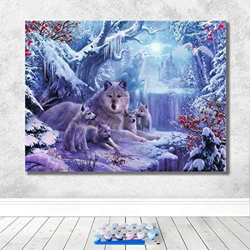 Puzzle 1000 Piezas Arte Creativo Animal Lobo Animal Escuela clásica Puzzle 1000 Piezas Animales Educativo Divertido Juego Familiar para niños adultos50x75cm(20x30inch)