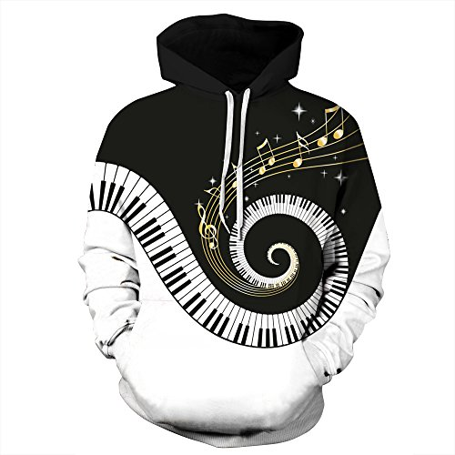 NEWCOSPLAY Unisex Novelty Hooded Sweatshirts 3D Printed Hoodies Colorful Pattern 304 (S/M)