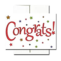 Congratulations Note Cards: Starry Congrats - box of 30 blank cards & 32 envelopes