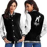 Womens Baseball Uniform Jacket, Airedale Terrier Dog Mom Sport Sweatshirt Sweater Coat Black