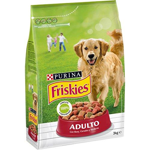 Friskies Adulto Alimento para Perros Seco con Carnes, 3kg ✅