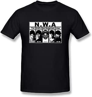 UrsulaA Mens Fashion NWA T Shirt Black