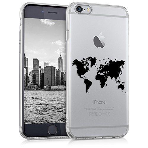 kwmobile Case kompatibel mit Apple iPhone 6 / 6S - Hülle Handy - Handyhülle - Travel Umriss Schwarz Transparent