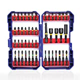 WORKPRO 47-Piece Impact Screwdriver Bit Set, S2 Alloy Steel Bit Set Including 1 In. and 2 In. Phillips, Square, Slotted, Torx Bits and Socket Adapter, Magnetic Nut Driver Bits, Extension Rod