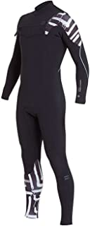 Billabong Furnace Carbon Comp 3/2MM Chest Zip Wetsuit Black Print- Lightweight Easy Stretch Thermal Furnace Lining Quick Dry