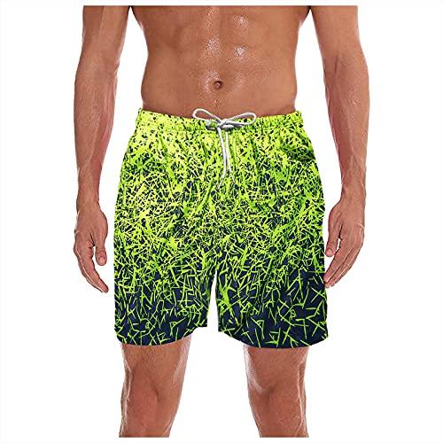 ddfd Pantalones Cortos de Playa Fluorescentes Impresos Informales para Hombre Pantalones de Surf al Aire Libre de Secado RáPido de Cinco Puntos Pantalones Cortos Holgados CóModos para el Hogar