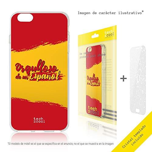 Funnytech® Funda Silicona para Motorola Moto Z2 Force [Gel Silicona Flexible, Diseño Exclusivo] Bandera España Orgulloso