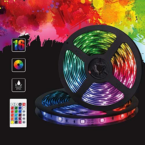 LED Streifen, LED Strips 4M, LENDOO USB RGB-Licht mit 5050 RGB 120 LEDs, mit IR-Empf?nger, Wasserdicht IP65 + 24 Tasten Fernbedienung, f¨¹r Deko, K¨¹che, Terrasse, Weihnachten, Party¡¾2 * 2M¡¿