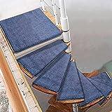 Pisada de escaleras giratorias alfombras, girar a la izquierda / derecha sin deslizamiento de la escalera de caracol de la carpeta, escaleras de vidrio de madera interior Pad Protection PROTECTOR PROT