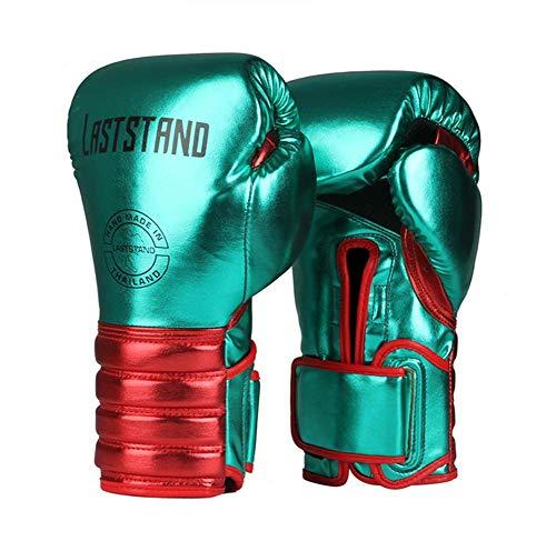 Crrs Boxhandschuhe MMA Boxsack Muay Thai Martial Art Training Kinder & Erwachsene Größen Boxhandschuhe 6oz, 8oz, 10oz, 12oz,Grün,10OZ