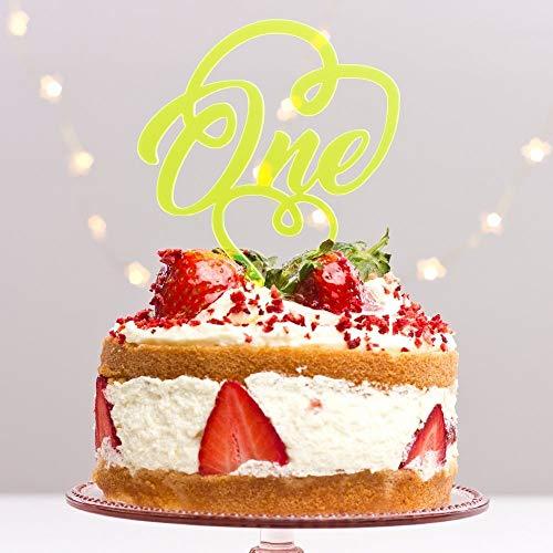 Directly Personlaised 1 Une première 1er Anniversaire fête Anniversaire Âge 1st Papier Anniversaire de Mariage Acrylique gâteau