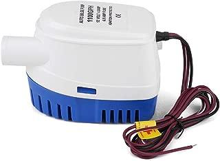 Aramox Water Pump, 1100GPH Boat 12V Marine Automatic Submersible Bilge Water Pump Fully Auto Float Switch Internal