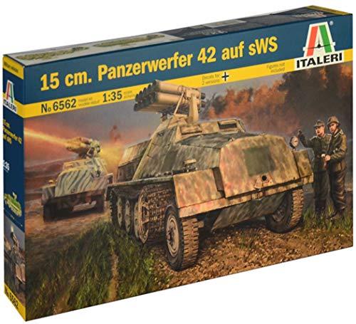 Italeri 6562 Modelo de plástico para Montar Medios Militares Segunda Guerra Mundial 15 cm Panzerwerfer 42 Auf SWS Model Kit Escala 1:35
