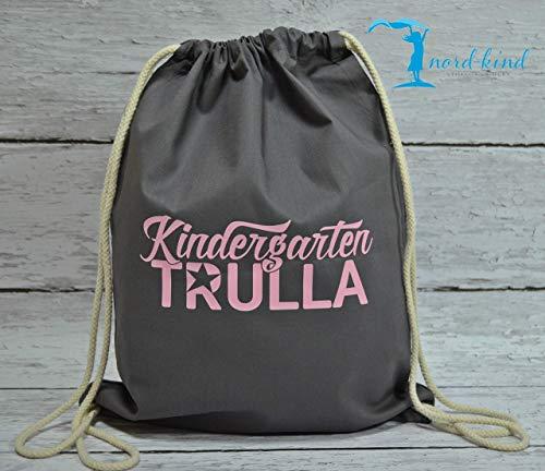 Sportbeutel Kindergarten Trulla Turnbeutel mit Spruch/Gymbag/Jutebeutel/Rucksack