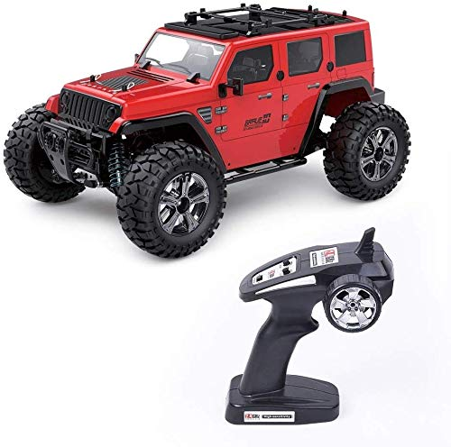 Knmbmg 1/14 Proportional-RC Auto 2.4G 4WD 22km / h High Speed Racing Subotech BG1521 Golory elektrische Fernbedienung Klettern Buggy Weihnachten Buggy (Color : Rot)
