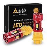 Alla Lighting CAN Bus T25 3156 3157 LED Bulbs Amber Yellow Turn Signal Lights, Plug-n-Play 3457NAK 4157NAK 5702AK 3757AK CANBUS Blinker Lamps Upgrade
