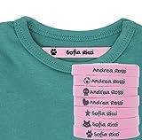 Haberdashery Online 100 Etichette Personalizzate in Ferro su Tessuto per contrassegnare i Vostri Vestiti con Varie Icone. Tela Rosa. Delicato sulla Pelle dei Vostri Bambini. (Rosa)