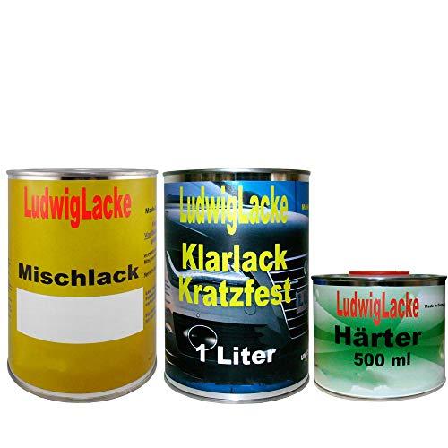 Ludwig Lacke 2,5 Liter Set Autolack Klarlack Härter Wunschfarbe auch Metallic für Mercedes
