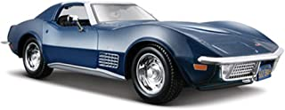 Maisto 1970 Chevy Corvette T-Top 1/24 Scale Diecast Model Car Blue