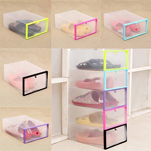 ASADVE Schuhboxfaltbare Und Stapelbare Transparente Kunststoffschublade Aufbewahrungsbox Aufbewahrungsbox Schuhregal Schuhablage Familien Aufbewahrungszubehör Aufbewahrungsbox-China_Zufällig