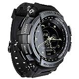 JJIIEE Smartwatch da Uomo, Schermo Impermeabile da 1,14 Pollici BT4.0 Smartwatch tattico Militare, contapassi Bluetooth Promemoria 3 suonerie Orologio Sportivo per Unisex,C