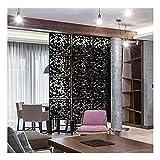 RKRCXH Divisor de habitación Colgante Panel Divisor de partición de Pantalla Colgante 12 Piezas Decorativo para habitación de Bar en casa de Hotel(Color:Black,Size:12pcs)