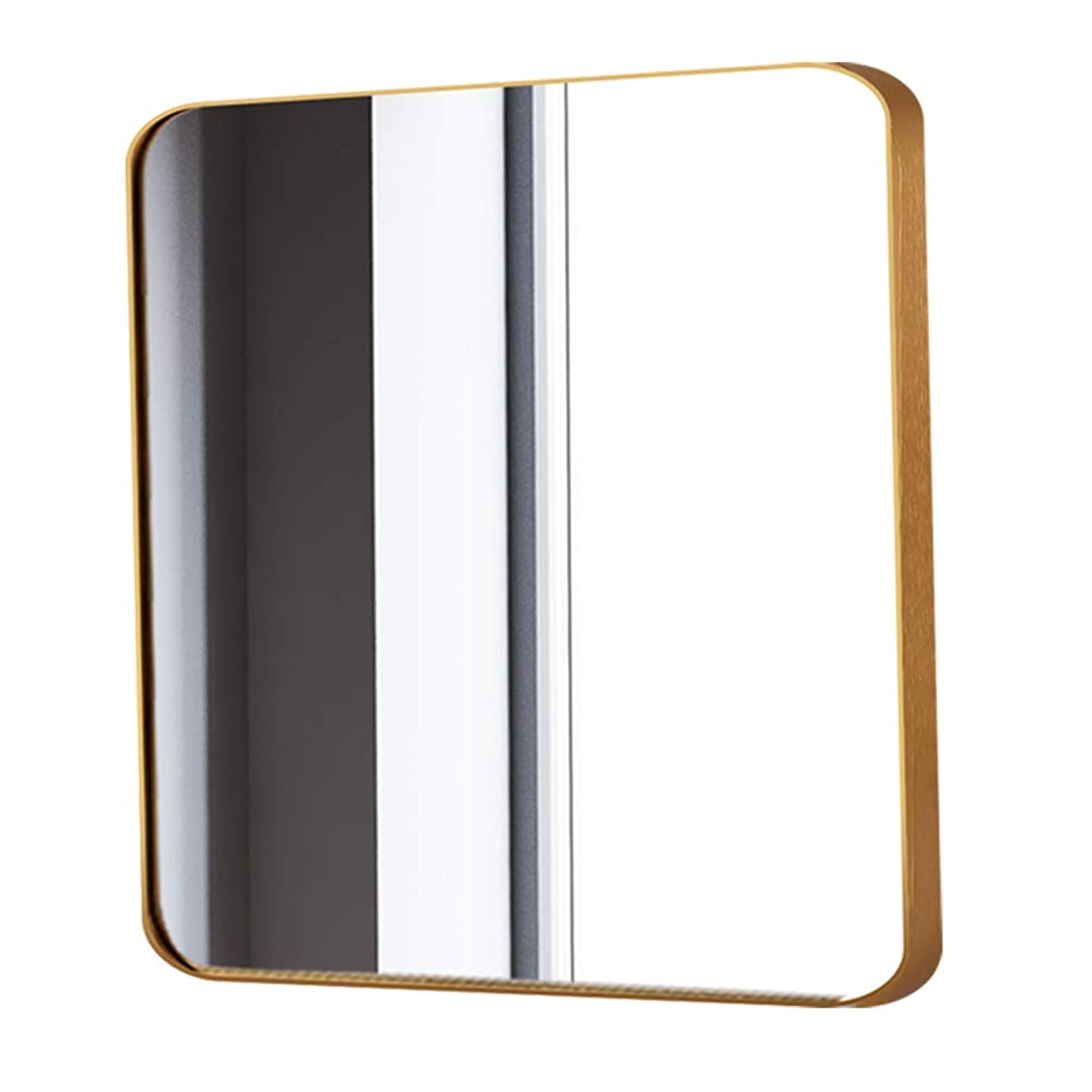 観察する達成する延ばす正方形の壁掛け鏡、化粧鏡、化粧台鏡、浴室用寝室用トイレミラー(アルミニウム、ニッケル、金)