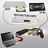 SHOP-STORY - Adaptateur Convertisseur Acquisition Vidéo Audio USB VHS Camescope HD...