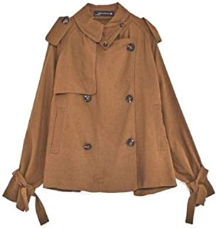 Zara Women Short Flowing Trench Coat Toffee Brown Small