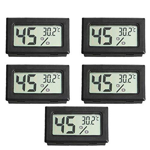 Festnight 5 stücke Mini Digital LCD Temperatur und Luftfeuchtigkeit Meter Pet Reptile Wireless Thermometer Hygrometer