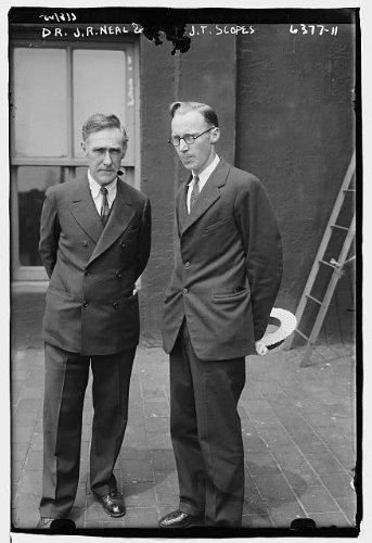 HistoricalFindings Photo: Dr. John R. Neal,John Thomas Scopes,Teacher in Dayton,Tennessee,Scopes Trial,1