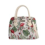 Signare Tapisserie Handtaschen Damen, Umhängetasche damen schultertasche damen und Umhängetaschen damen mit Vogel Design (Flamingo)