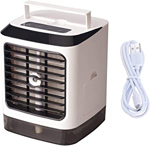 Beioust Mini Electric Air Cooler for Room Portable Air Conditioner Fan Dormitory Office USB Small Cooling Fan