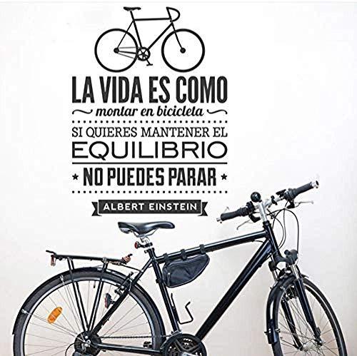 Adhesivos De Pared En Español Decoración Para El Hogar - La Vida Es Como Una Bicicleta Vinilo Tatuajes De Pared Por Texto Albert Einstein