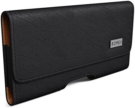 Bomea Galaxy S10e Holster, Galaxy S6/S6 Edge Belt Case, Cellphone Belt Holster Holder Case with Belt Clip and Loops Leather Pouch for Samsung Galaxy S10e/S6/S6 Edge (Fits Phone with Case on)