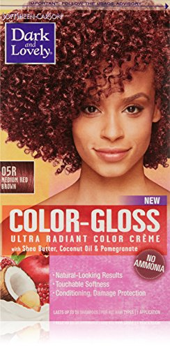 SoftSheen-Carson Dark and Lovely Color-Gloss Ultra Radiant Hair Color Crème, Medium Red Brown 05R