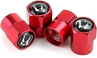 EVPRO Tire Valve Stem Caps 4 Pack Red Fit for Honda Accessories