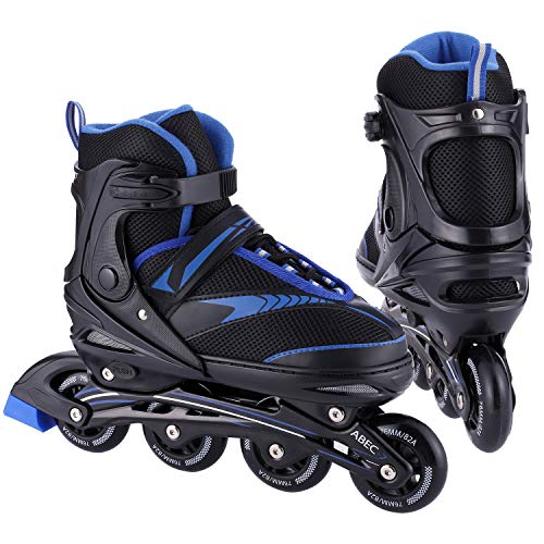 Iannan Inline Skates for Adult and Youth , Roller Blades Adjustable 4 PU...