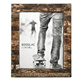 EosGlac Rustic 11x14 Wooden Picture Frames, Handmade with Real Birch Bark, Wood Photo Frame Natural