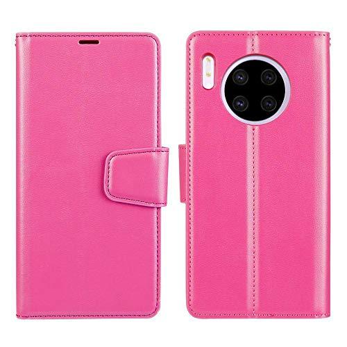 WALCD portemonnee hoesje glad effen kleur met gesp beugel telefoon geval, voor Huawei Mate 30, Paars