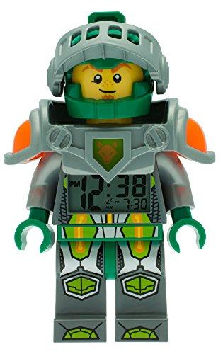 Despertador con luz infantil con figurita de Aaron de LEGO Nexo Knights 9009426