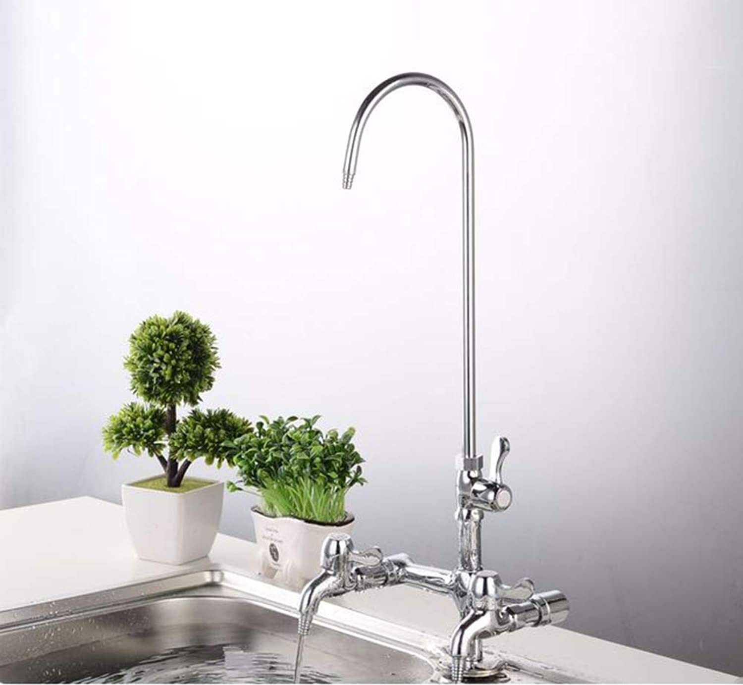 ZFXNB Kitchen Faucet, Kitchen Tap Bathroom Sink Mixer Tap 360 Degree redating Spout Chrome-Plated Copper Body Single Lever Hot