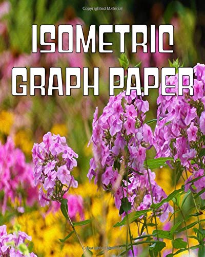 Isometric Graph Paper: Equilateral Triangle Horizontal Grid Paper Composition Notebook Featuring Pretty Pink Flowers in the Golden Garden Original Digital Oil Painting Cover Artwork