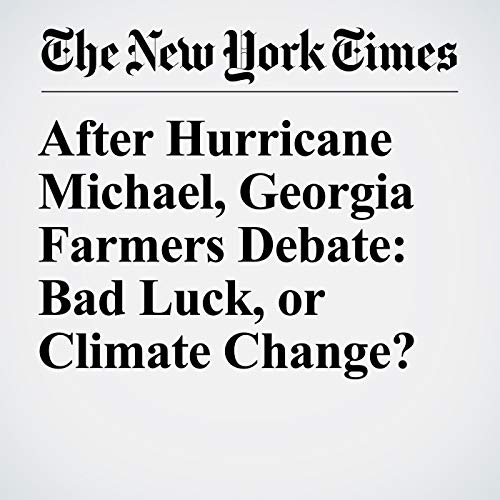 After Hurricane Michael, Georgia Farmers Debate: Bad Luck, or Climate Change? audiobook cover art