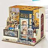 Casa de muñecas de bricolaje para regalo de cumpleaños Nancy's Bake Shop Building puzzle modelo tridimensional de madera
