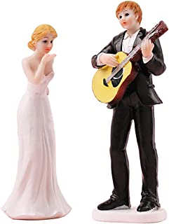 Outgeek Wedding Cake Topper Couple Bride Groom Cake Topper Figurines Couple Figurine Bride & Groom Resin Figurine Cake Decor For Valentine'S Day One Size Multicolor 7